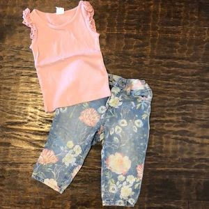 Toddler Gap Outfit- shirt and jeans- EUC